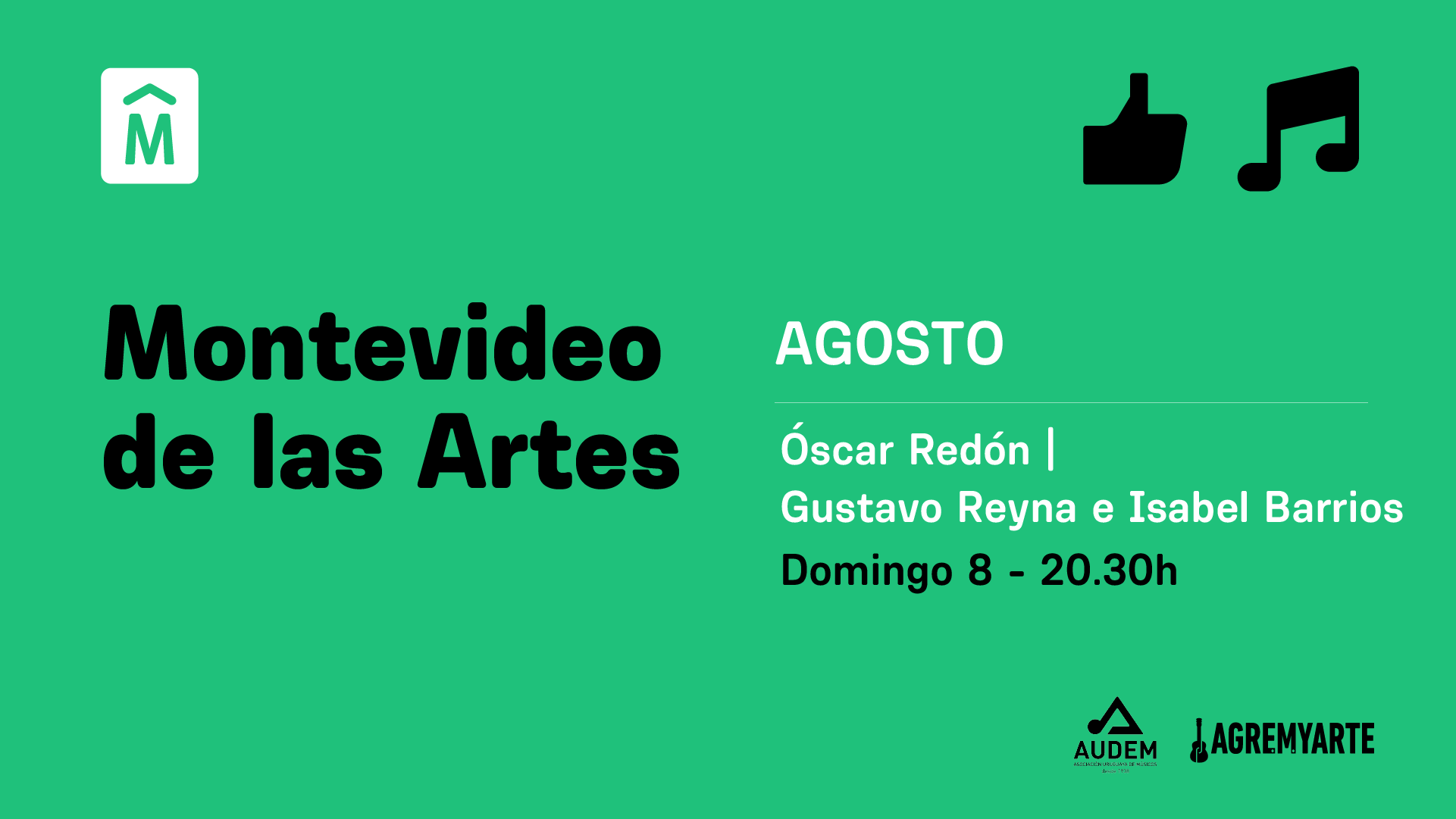 Oscar Redón, Reyna & Barrios – MVD de las Artes